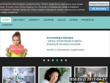 Zrzut strony Gabinet ortodontyczny MAX-DENT lekarz stomatolog Ewa Maksym Czechowice-Dziedzice