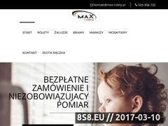 Miniaturka domeny max-rolety.pl