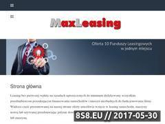 Miniaturka domeny www.maxleasing.pl