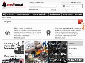 Zrzut strony Największy wybór skuterów, quadów, motocykli i motorowerów - Maxmoto.pl