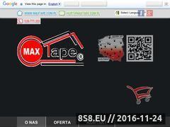 Miniaturka domeny maxtape.com.pl