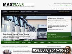 Miniaturka domeny maxtrans.com.pl