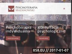 Miniaturka mazanowski.pl (Gabinet psychoterapeutyczny)