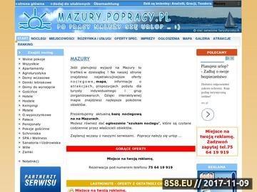 Zrzut strony Mazury - noclegi, kwatery, mapa i atrakcje