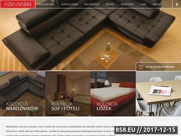 Zrzut strony Firma Adamski jest uznanym producentem mebli wypoczynkowych