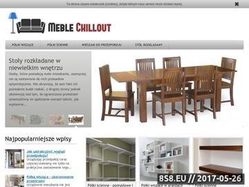 Zrzut strony Meblechillout.pl