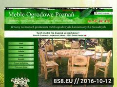 Miniaturka Meble ogrodowe - producent Poznań (mebleogrodowe.poznan.pl)