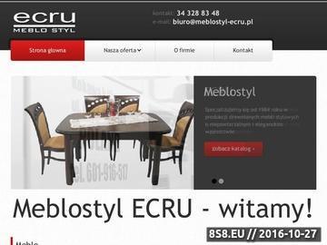 Zrzut strony Producent Mebli - meble, krzesła, stoły - MEBLO STYL - Konkurencyjne Ceny !