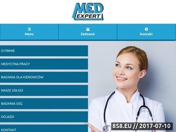 Zrzut strony Med-Expert Spółka z o.o. - laryngolog Warszawa Praga