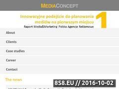 Miniaturka www.mediaconcept.com.pl (Reklama w telewizji i mediach)