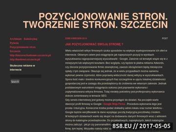 Zrzut strony Pozycjonowanie stron Szczecin