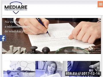 Zrzut strony WINDYKACJA - ODZYSK DLUGÓW. Firma Windykacyjna MEDIARE