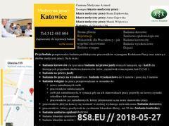Miniaturka medycynapracykatowice.pl (Medycyna pracy Katowice)