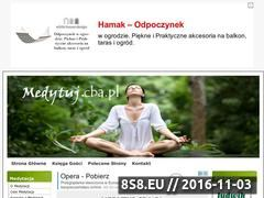 Miniaturka domeny www.medytuj.cba.pl