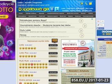 Zrzut strony Najnowsze wyniki lotto