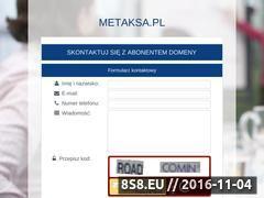 Miniaturka domeny metaksa.pl