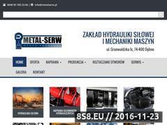 Miniaturka Naprawa siłowników hydraulicznych (metalserw.pl)