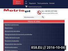 Miniaturka www.metris.pl (Mierniki elektryczne oraz luksomierze)