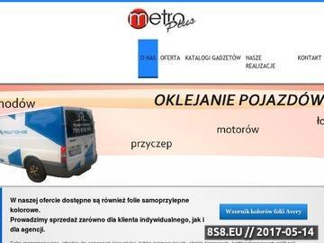 Zrzut strony Metro Plus - Pracownia Reklamy w Stargardzie Szczecińskim