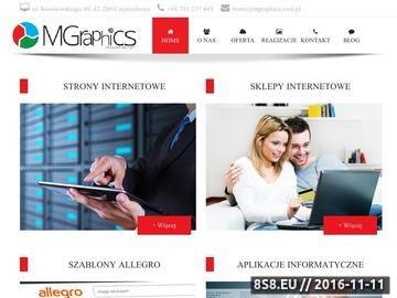 Zrzut strony Projektowanie indywidualnych aplikacji internetowych