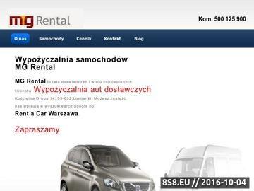Zrzut strony Wypozyczalnia samochodow Warszawa