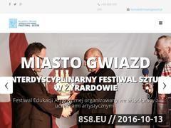 Miniaturka www.miastogwiazd.pl (Interdyscyplinarny Festiwal Sztuk Miasto Gwiazd w Żyrardowie)