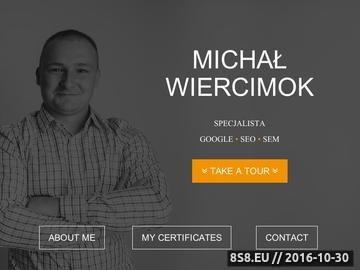 Zrzut strony Specjalista SEO Michał Wiercimok