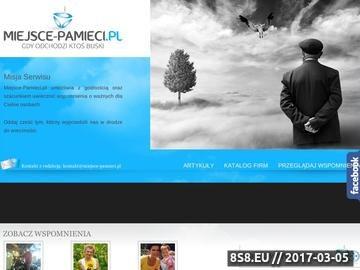 Zrzut strony Wirtualny cmentarz