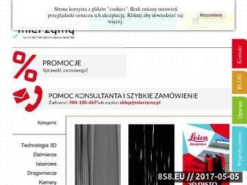 Zrzut strony Mierzymy.pl - sklep internetowy, najlepsze urządzenia pomiarowe