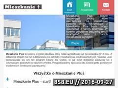 Miniaturka Strona z informacjami o programie Mieszkanie+ (mieszkanieplus.org.pl)