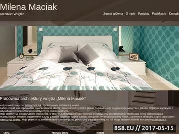 Zrzut strony Milena Maciak - Architekt Wnętrz
