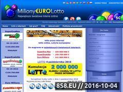 Miniaturka domeny milionyeurolotto.pl