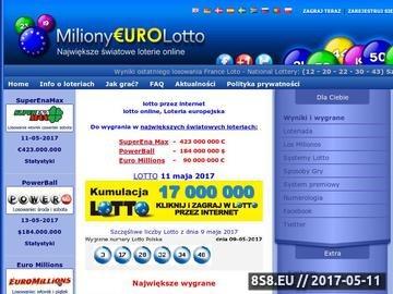 Zrzut strony Informacje o światowym lotto, zasady gry,wyniki lotto