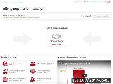 Zrzut strony Equilibrium - tango w Warszawie