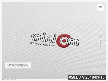 Zrzut strony MINICOM - nadruki na odzieży
