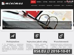Miniaturka domeny minimus.pl