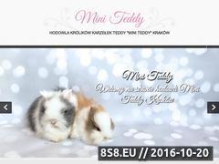 Miniaturka www.miniteddy.pl (Hodowla Królików Mini Teddy)