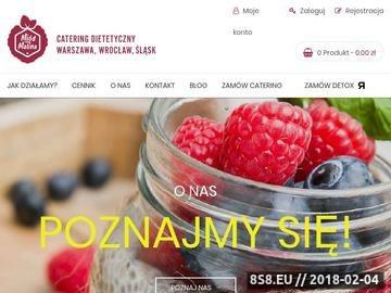 Zrzut strony Catering dietetyczny - Miód Malina Warszawa