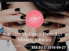 Miniaturka miraclesalon.pl (Manicure, pedicure i wizaż)