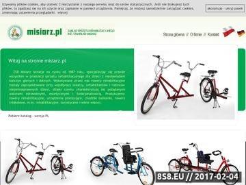 Zrzut strony Misiarz - zakład sprzętu rehabilitacyjnego