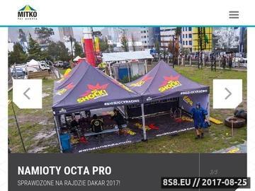 Zrzut strony Mitko for events