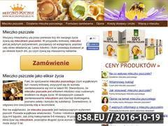 Miniaturka domeny www.mleczkopszczele.pl
