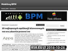 Miniaturka domeny www.mobilnybpm.pl