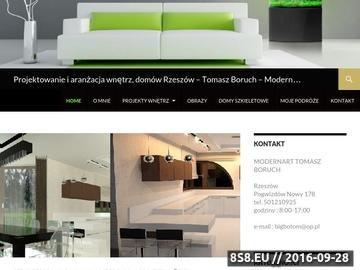 Zrzut strony ModernArt - projektant wnętrz