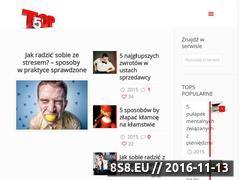Miniaturka www.mojetop5.pl (Inspiracje, pomysły i artykuły na temat rozwoju)