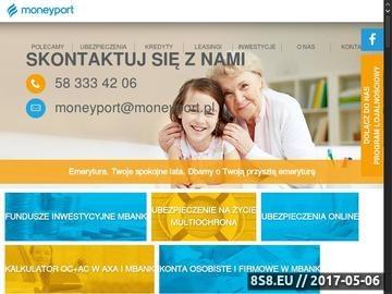 Zrzut strony Konto w banku i tani kredyt mieszkaniowy - moneyport