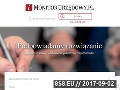 Miniaturka monitorurzedowy.pl (Przetargi publiczne)