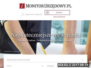 Zrzut strony Przetargi publiczne - Monitor Urzędowy
