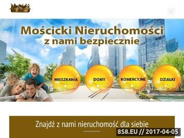 Zrzut strony Nieruchomości Warszawa - biuro pośrednictwa Mościcki