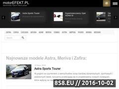 Miniaturka motorefekt.pl (Dane techniczne samochodów marki Opel)